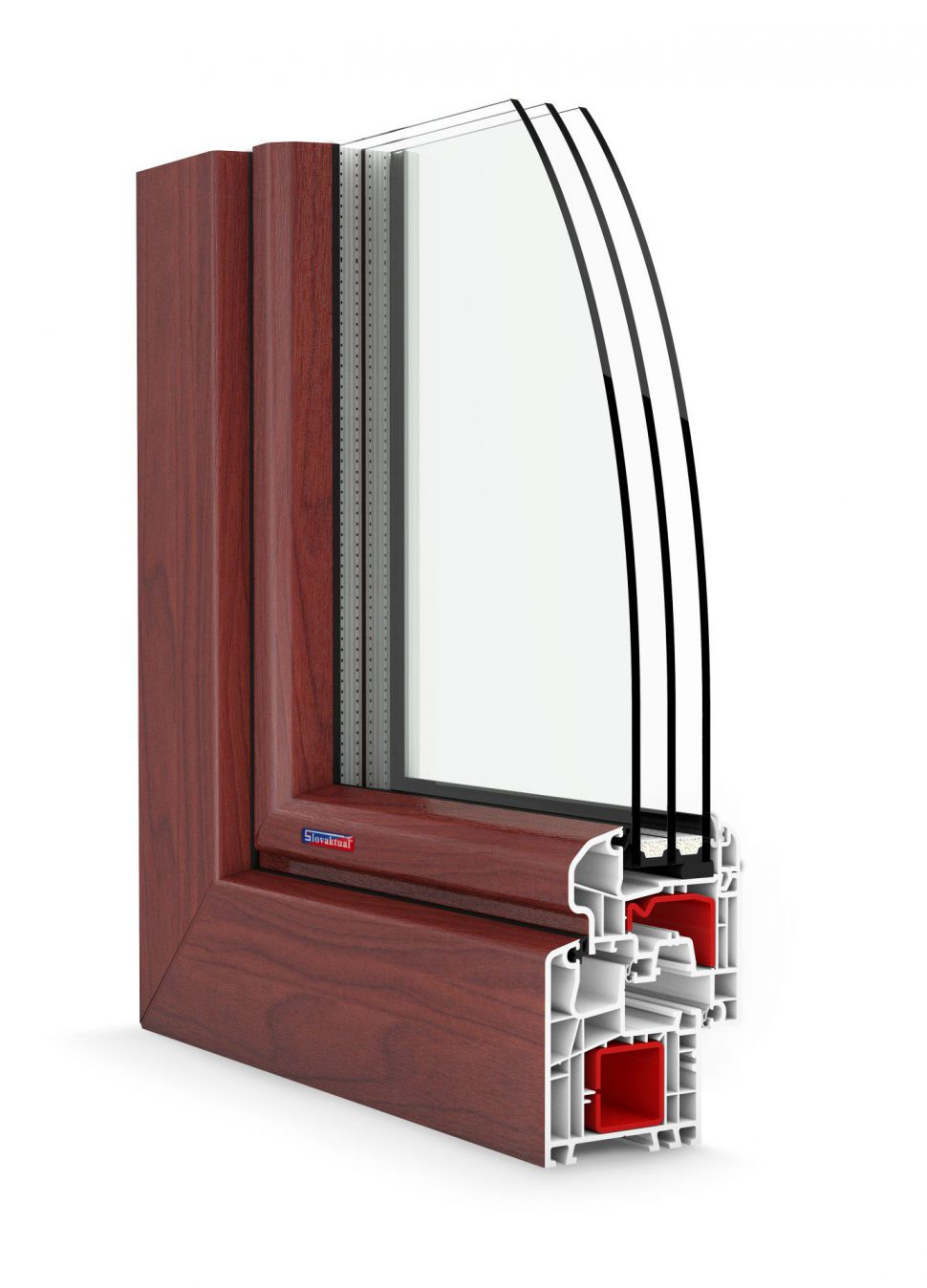 Plastové francúzske okná namieru standard 5000OL plus čerešňa l