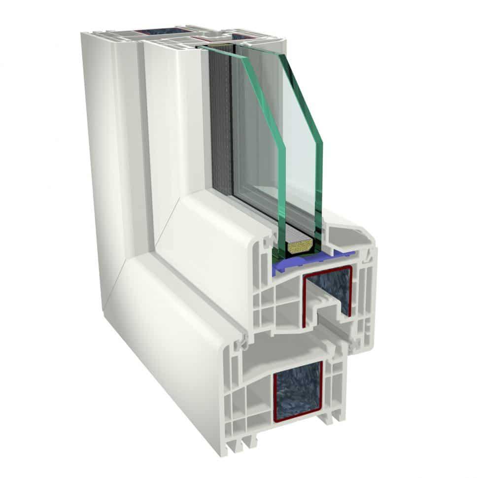 Plastové okná GEALAN S8000 dvojsklo