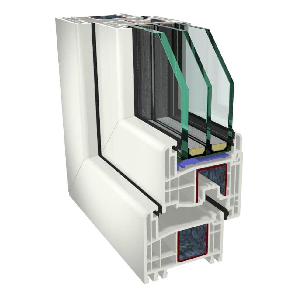 Plastové okná GEALAN S8000 trojsklo